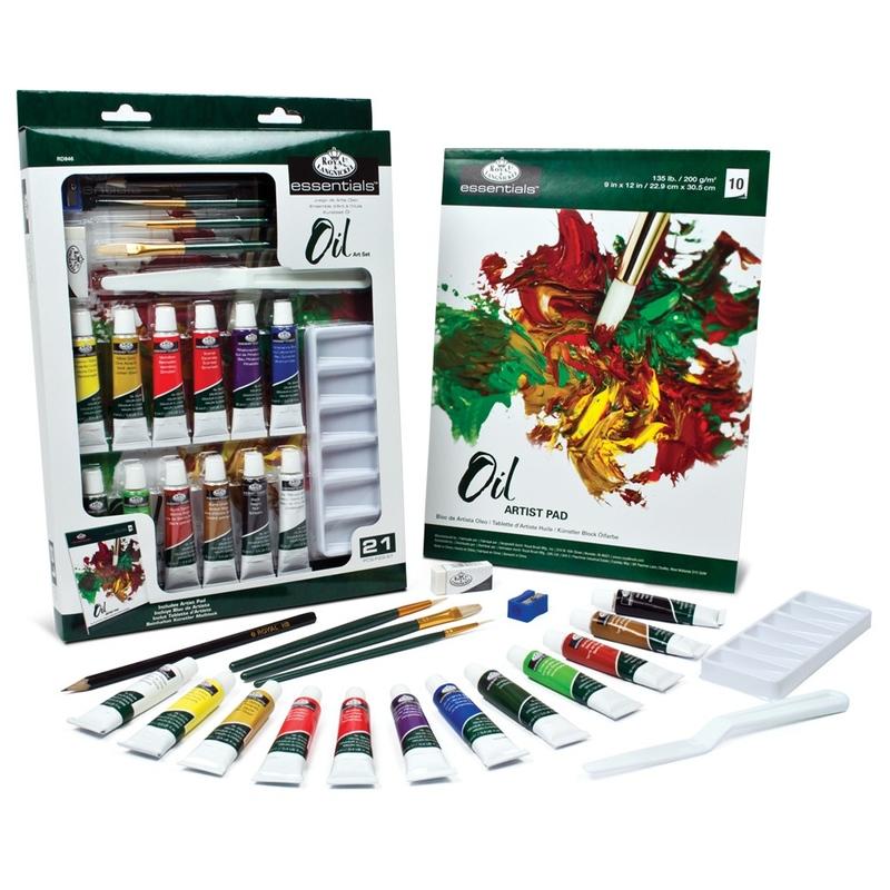 Trusa pictura culori ulei Essentials 21 de piese