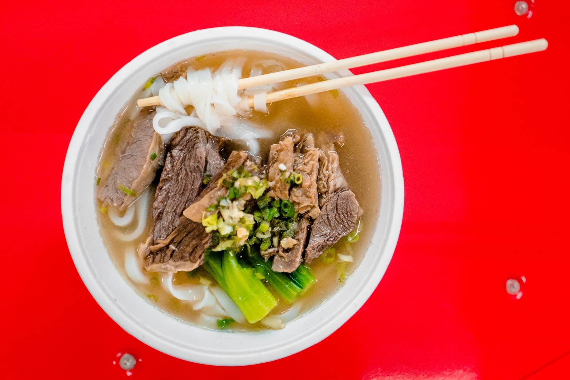 mâncarea chinezească - Taitei de orez cu vita